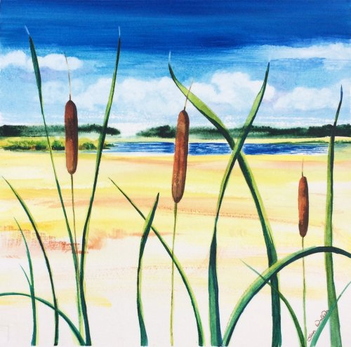 CAT TAILS © Joan Walsh